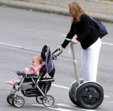 Segway was supposed to changed the world. It didn't. The woman in the photodemonstrates the WRONG WAY to use SEGWAY