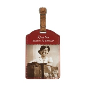 a broad luggage tag