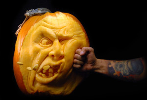 Pumpkin that took a punch