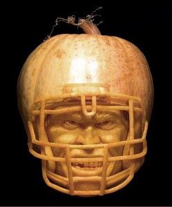 Football Player Pumpkin