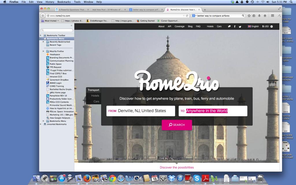 Rome2Rio web site