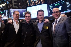 Twitter co-founder Jack Dorsey, Twitter co-founder Biz Stone, Twitter co-founder Evan Williams and Twitter CEO Dick Costolo