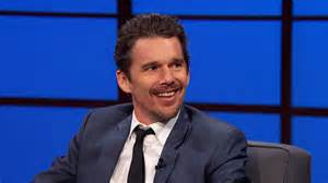 For comparison purposes, here's Ethan Hawke on Late Night with Seth Meyers