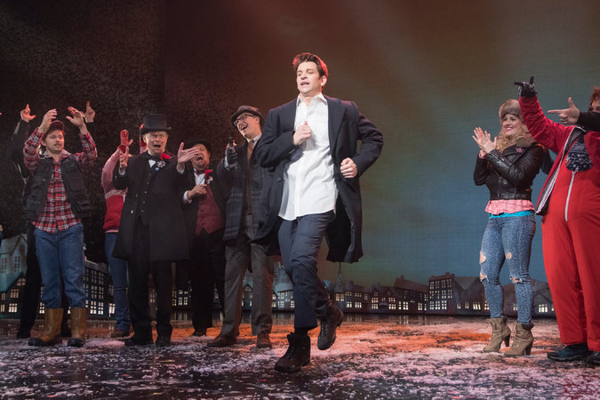 Andy Karl in nthe musical Groundhog Day.