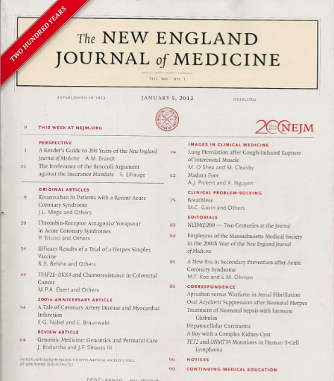 New Engand Journal of medicine