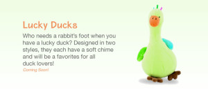 Lucky Ducks soft toy