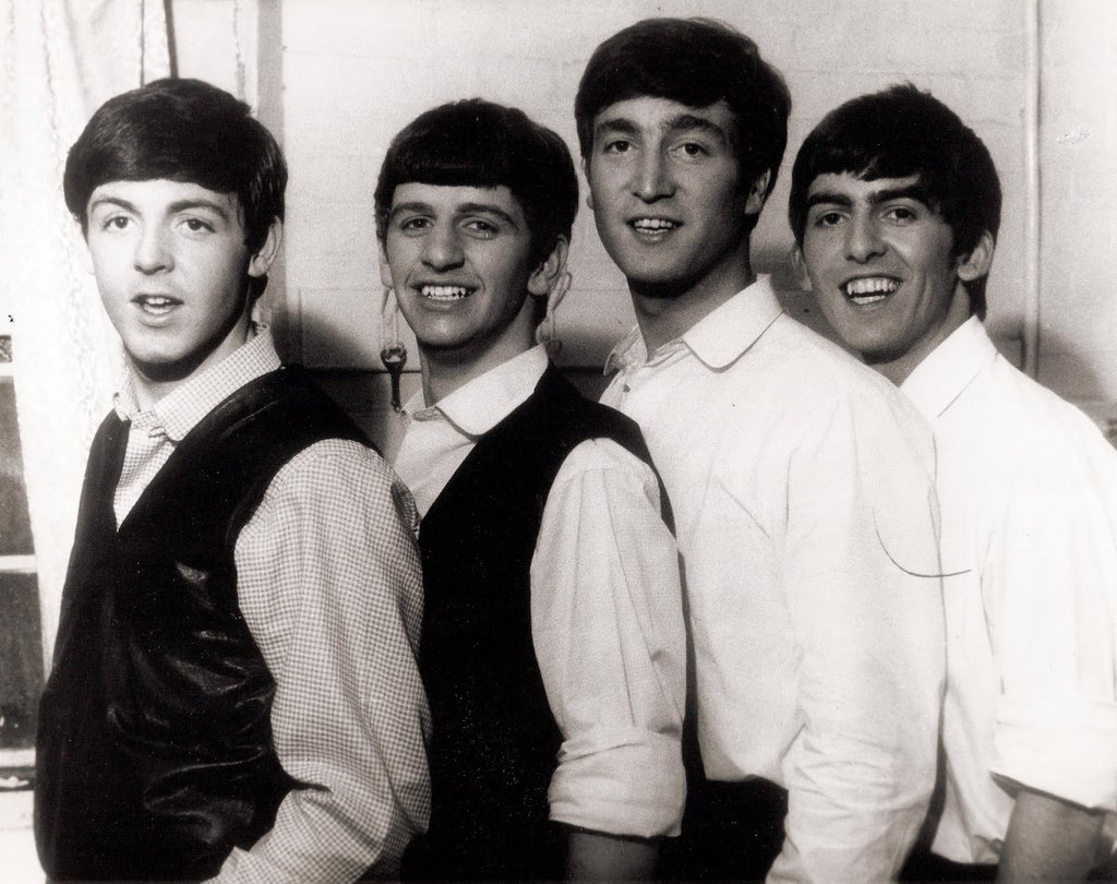 OK, that's better- an early shot of the Fab Four, John, Paul. George and finally, Rngo.