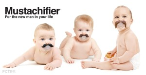 The Mustachifier is a fun gift that will pacify parents and baby.