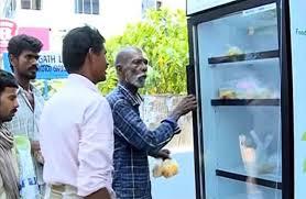 Public fridge