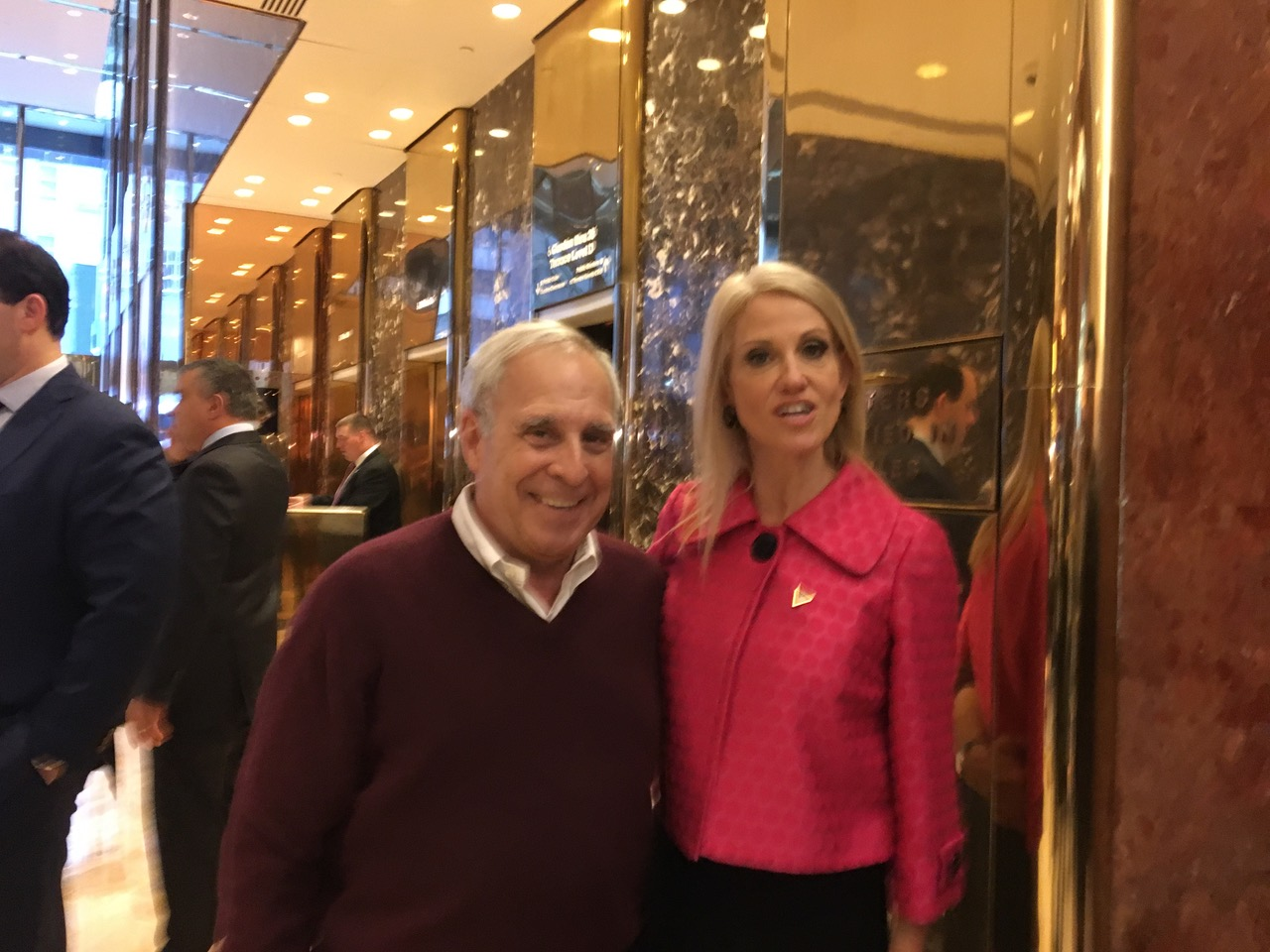 Kellyanne Conway and me at the Trump Tpower