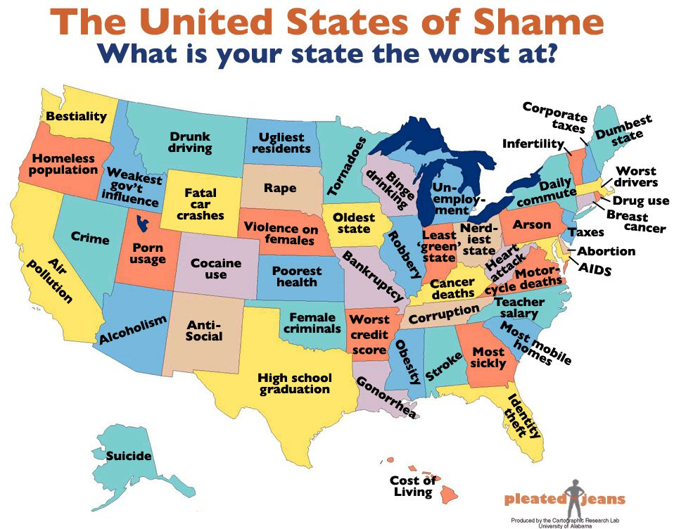 The United States of Shame