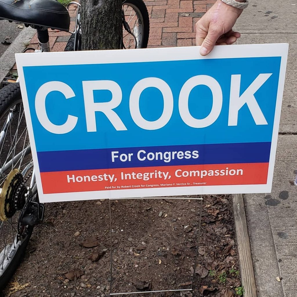 Crook for Congress Sign