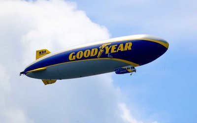 Air'bnb accommodations in the Goodyear Blimp